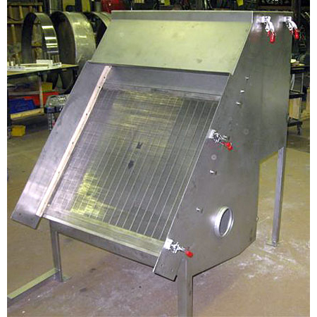Stainless Steel-,-N/A-,-N/A-,-Dewatering static CF Sieve w/quick removal splash cover & extended SS Support Structure-,-130